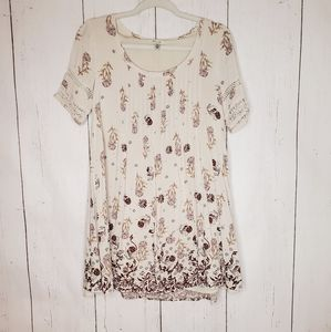 Ecote Urban Outfitters Floral Tunic Crochet Dress